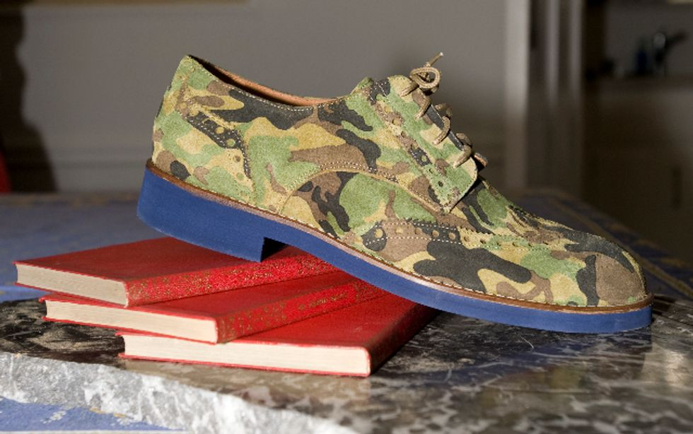 Going Commando: Del Toro's Camouflage Brogues
