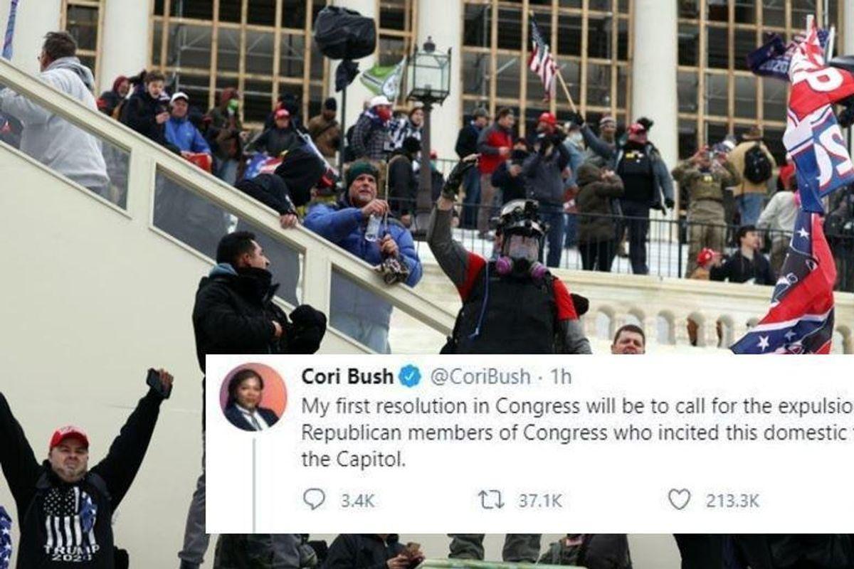 Cori Bush calls for the expulsion of GOP lawmakers who 'incited' attack on U.S. Capitol