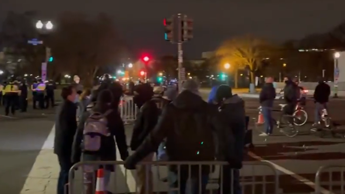 'We're not a violent Trump mob!' MAGA protesters complain they're being smeared after violent Capitol attack