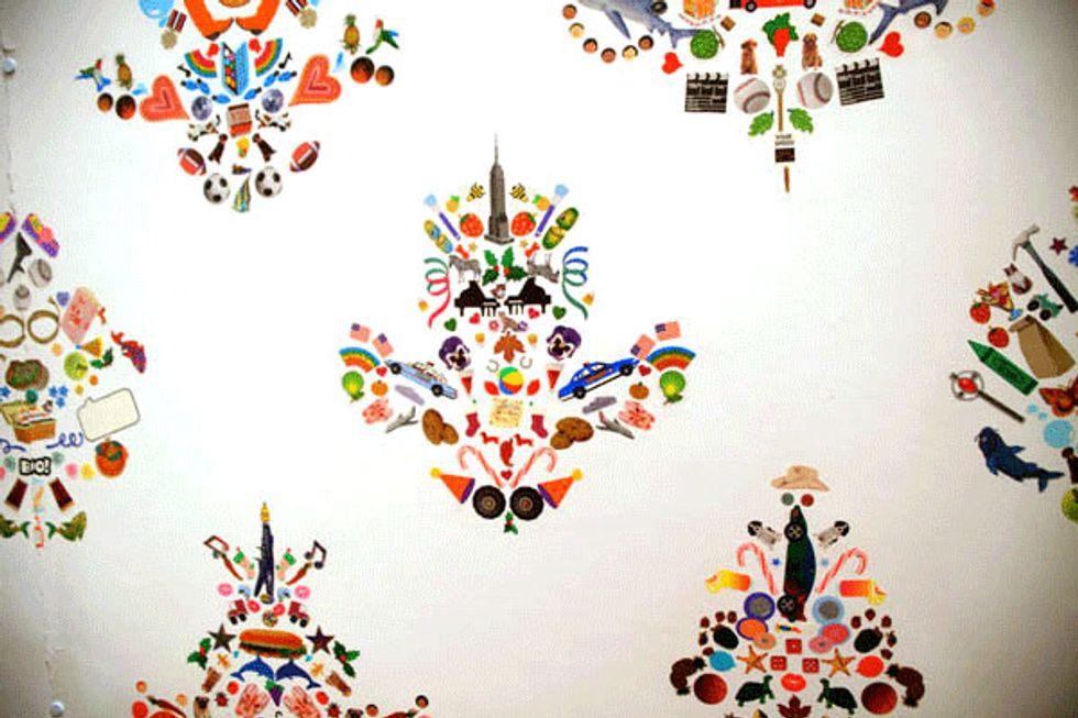 We Love: Aritst Payton Turner's Tiny Sticker Wallpaper