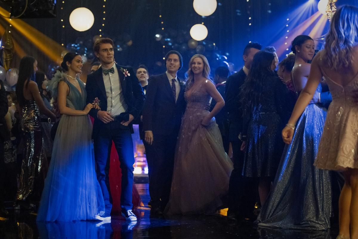 The stars of Riverdale at the senior prom