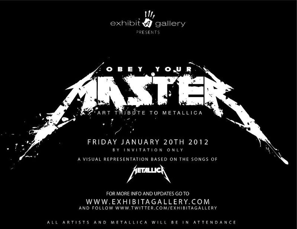 "Save the Date: ""Obey Your Master"" Art Tribute to Metallica at Exhibit A Gallery"
