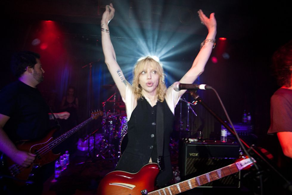 Courtney Love at One Management's Pre-Fashion Week Party