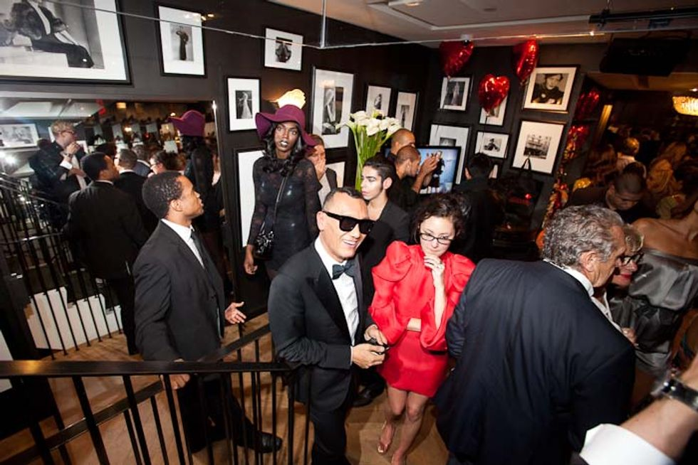 Joe Zee, Iman, Karen Elson and a Dance Contest at Lanvin's Surreal FNO