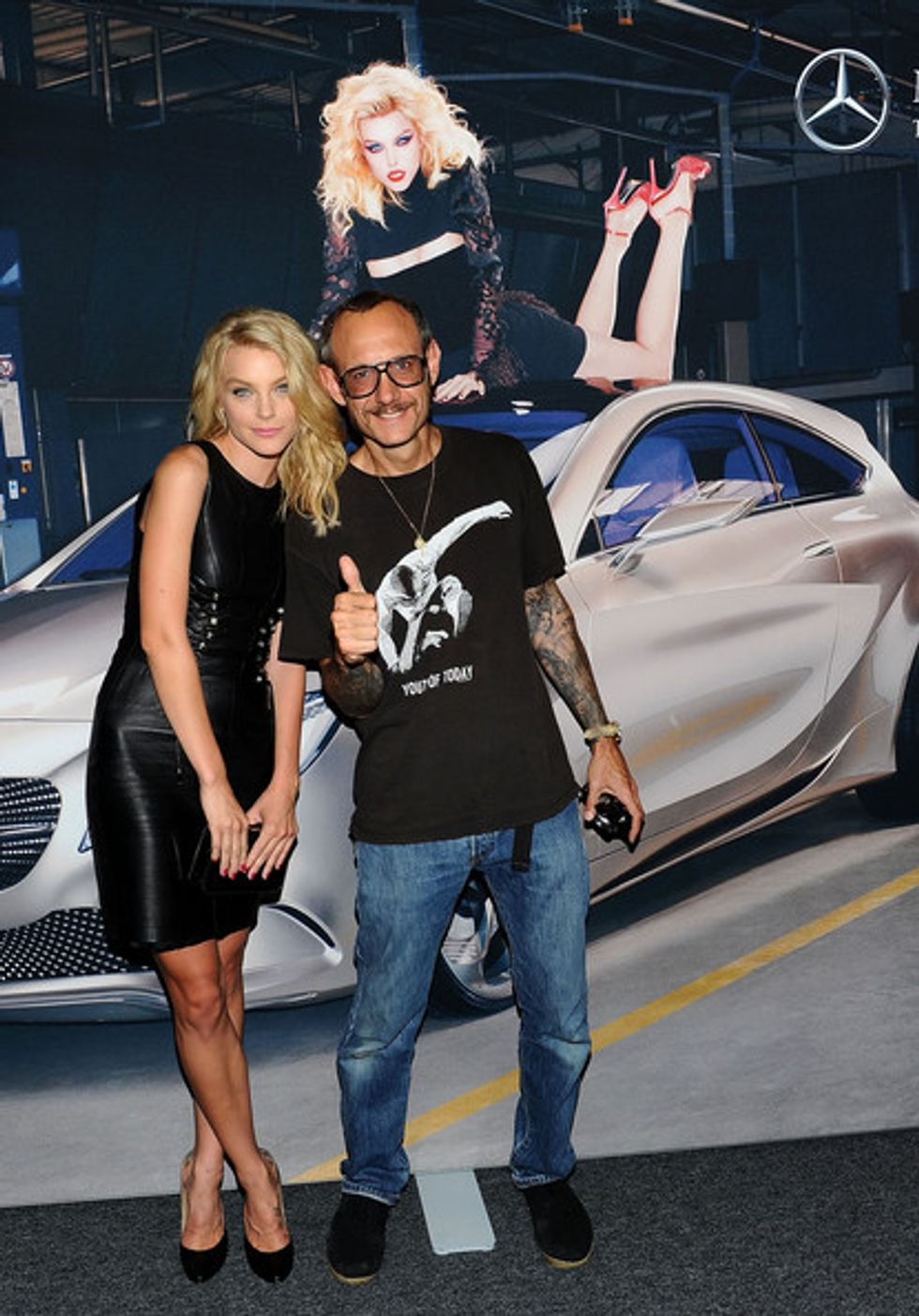 Shooting the Breeze With Jessica Stam and Terry Richardson at the Mercedes-Benz Star Lounge