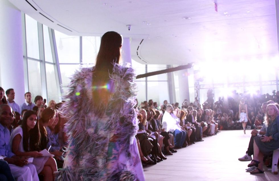 Purple Power: Prabal Gurung's S/S '12 Show Draws Nicki Minaj + Fashion Stars