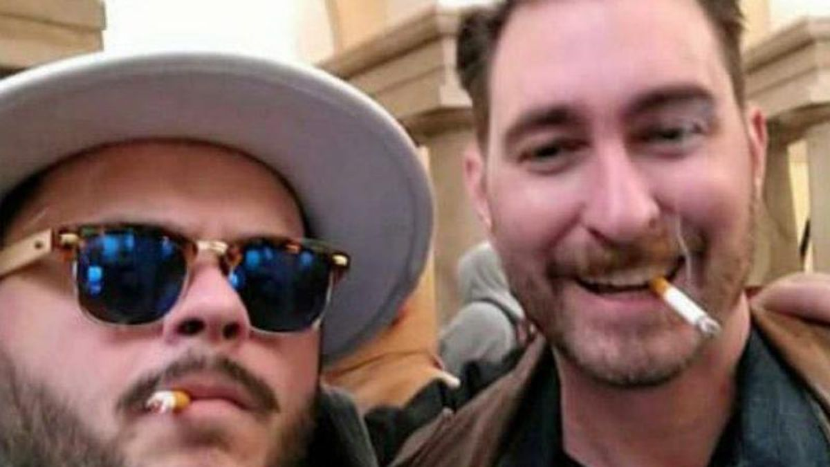 Selfie during insurrection leads to arrest of Trump supporter — who has a Proud Boys tattoo