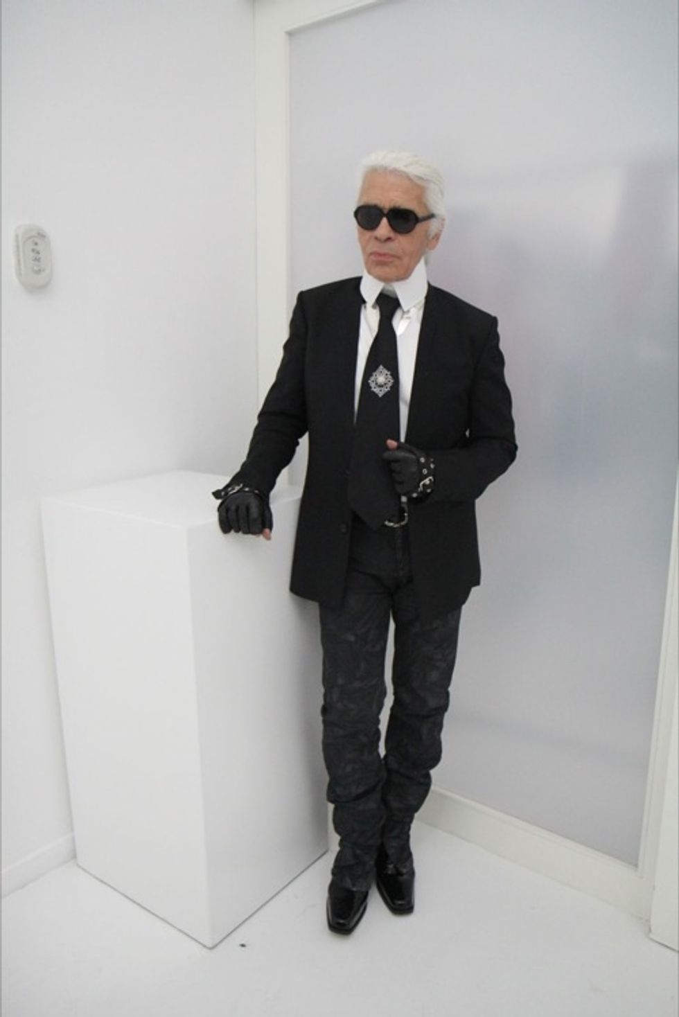 "Karl Lagerfeld Chats With Us At Milan Fashion Week: ""We Have to Think About What People Wear in Their Real Lives."""