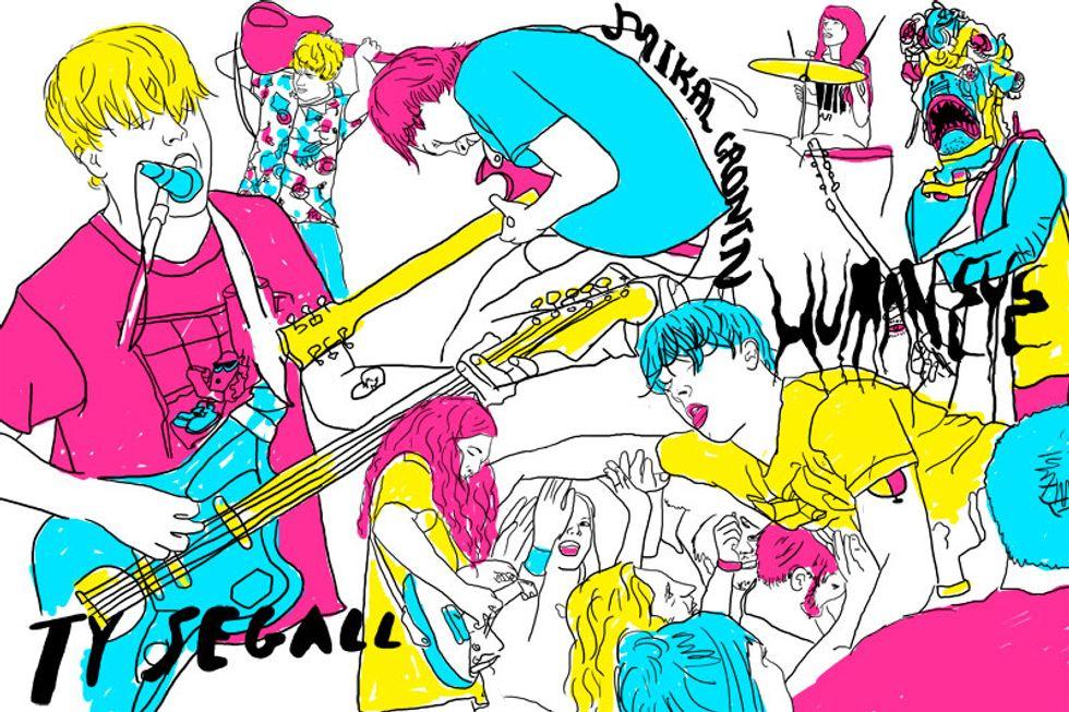 Drawing Break! Ty Segall + Mikal Cronin + Human Eye at the Bowery Ballroom
