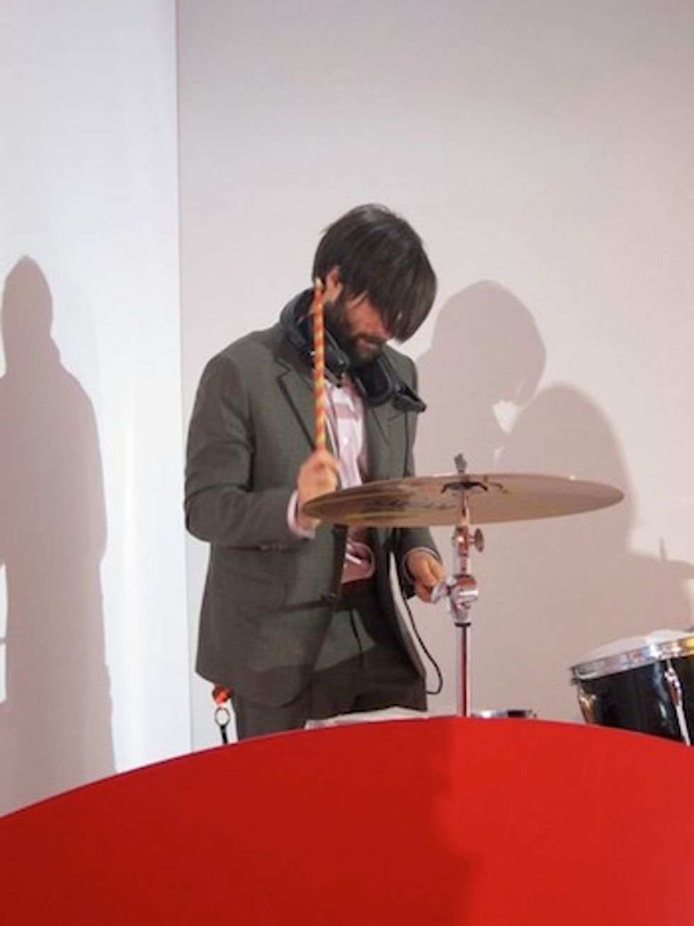 Jason Schwartzman Plays Drums at the Kenzo Paris Fashion Week Show