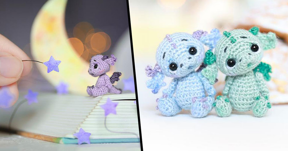 People Are Spending Quarantine by Crocheting the Tiniest Dragons to Brighten up Their Desks