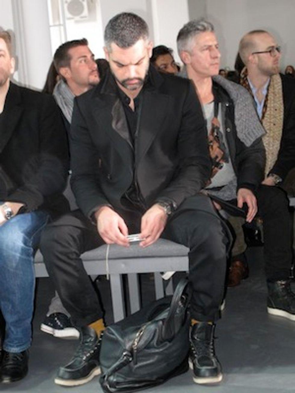 Mr. Mickey Always Falls in Love at Calvin Klein's Men's Show