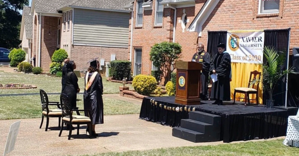 Dad Builds Stage in Driveway to Host a Proper College Graduation for Daughter