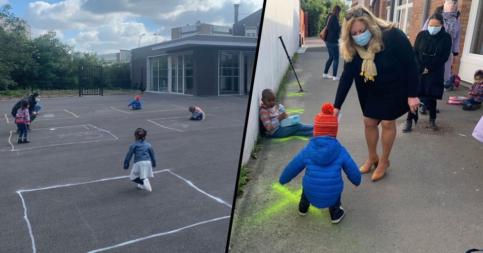 Heartbreaking Images Emerge as Young French Children Return to Preschool but Can't Play Together