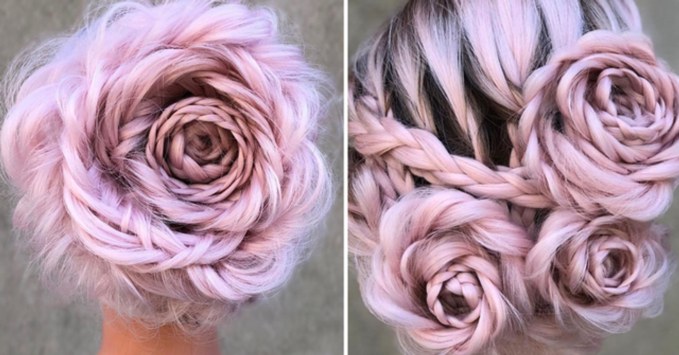 The Braided Rose Hairstyle is 2020's Latest Hair Trend and It's Surprisingly Easy to Do