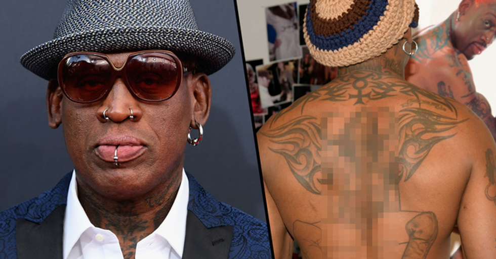 Dennis Rodman's Outrageous Tattoo Collection Includes a Very Graphic One