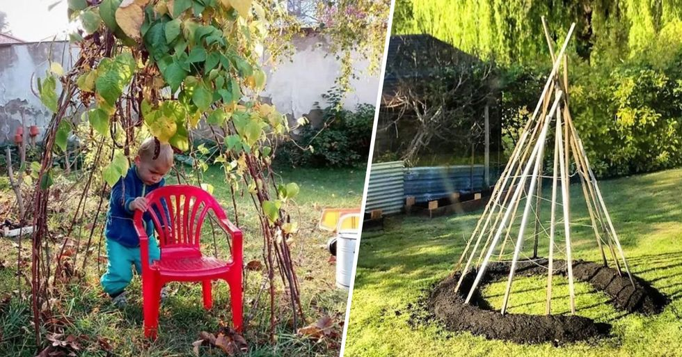 People Are Growing Magical Bean Pole Tents for Their Kids During Lockdown