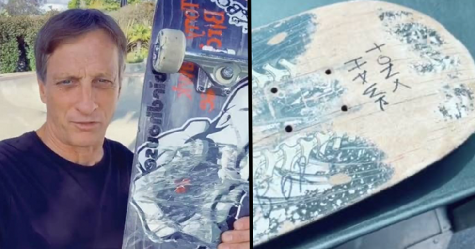 Tony Hawk Sends 8-Year-Old Personalized Skateboard After Seeing Delivery Driver's TikTok