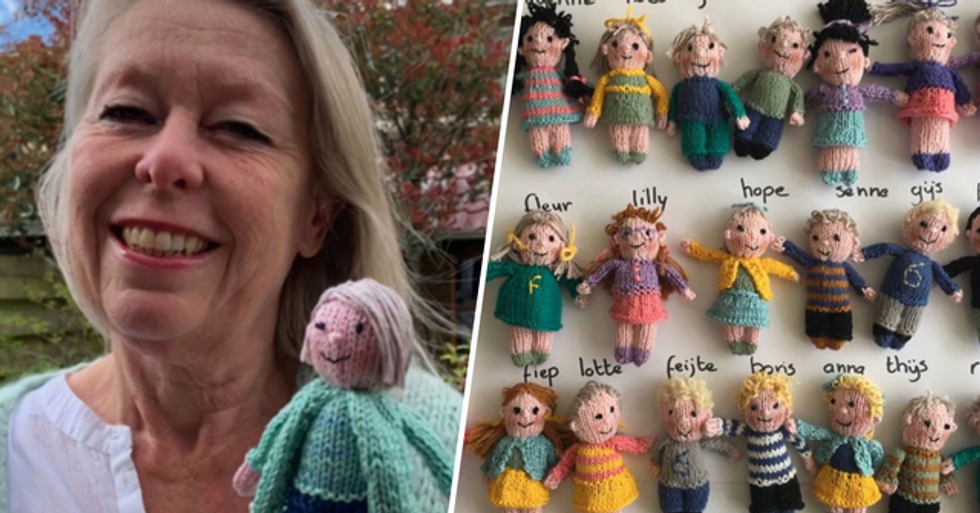 Teacher Missed Her Students so Much She Knitted Dolls of Her Whole Class