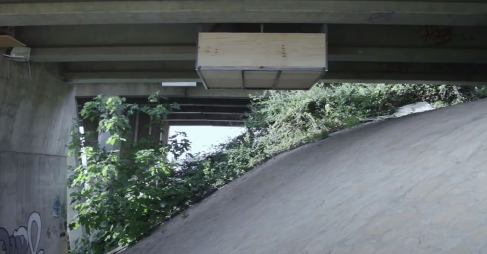 Guy Secretly Builds a Studio Apartment Under a Bridge