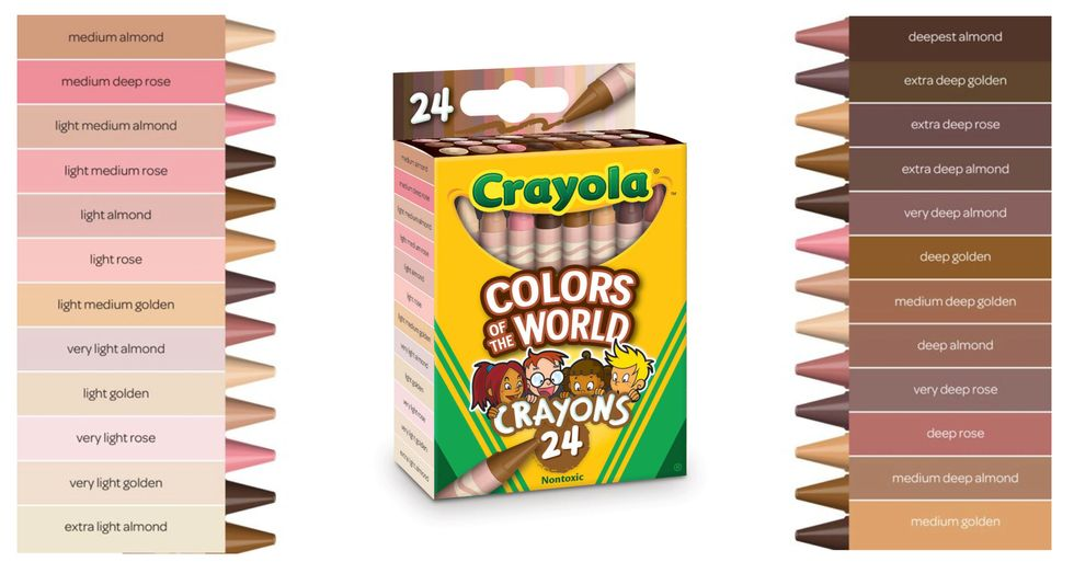 Crayola Just Released Crayons With 24 Skin Tone Shades so Every Child Can Color Themselves Accurately