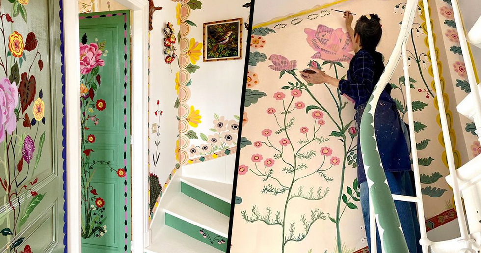 Artist Stuck in Quarantine Uses Her Home as a Blank Canvas and the Results Are Stunning