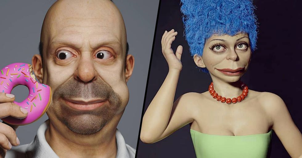 Artist Recreates Characters From 'The Simpsons' as Real People