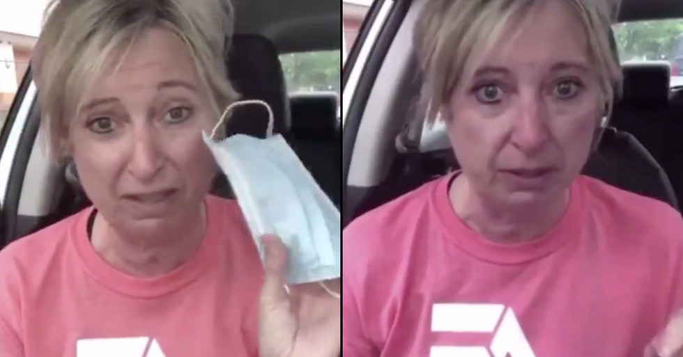Woman Trolled for Video Crying Over 'Emotional' Ordeal of Having to Wear a Face Mask for 45 Minutes