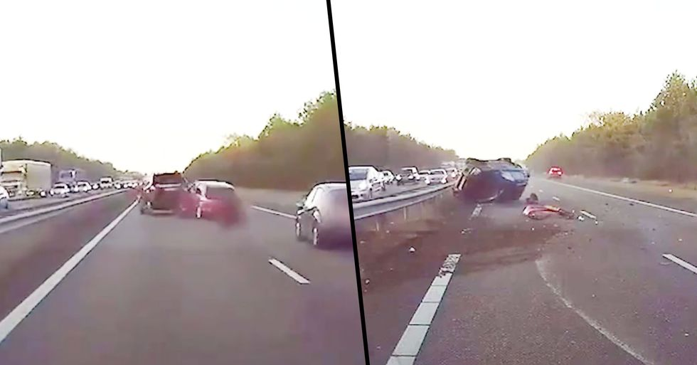 Unbelievable Footage Shows a Tesla Predicting an Accident and Reacting Before It Even Happens