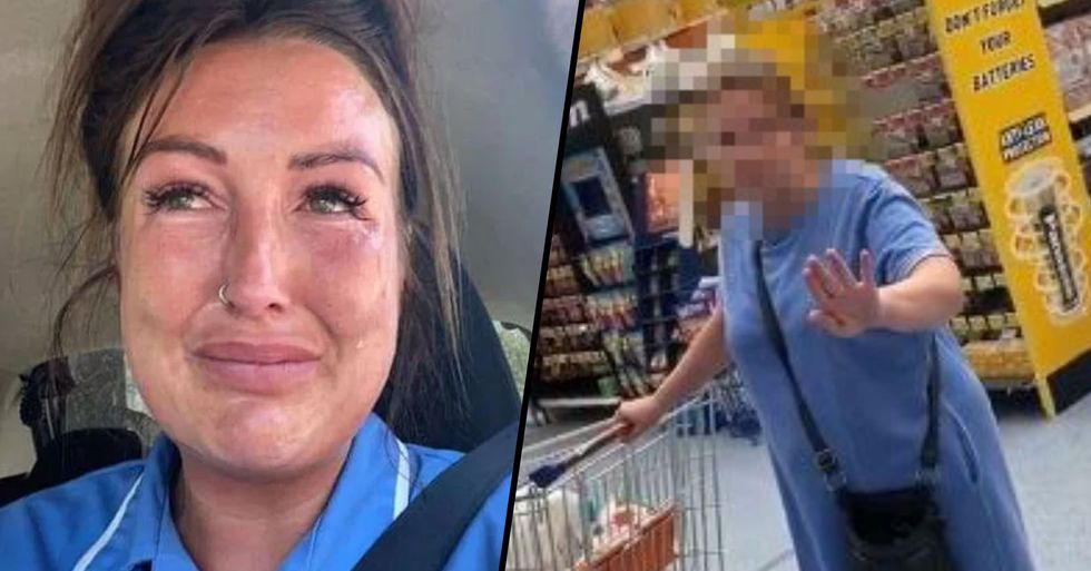 Care Worker Left in Tears After Woman Accuses Her of 'Spreading Germs' as She's Shopping in Her Uniform