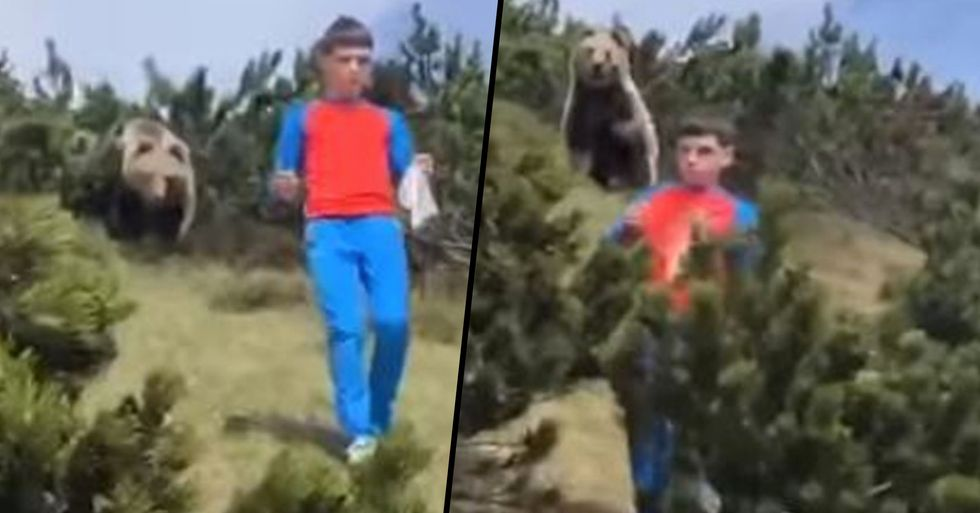 12-Year-Old Does Exactly What You Should Do When Being Stalked by a Bear