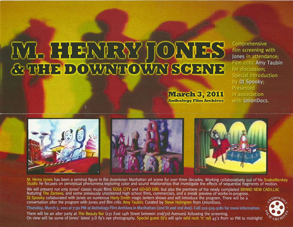 """M. Henry Jones and the Downtown Scene"" Comes to Anthology Film Archives"