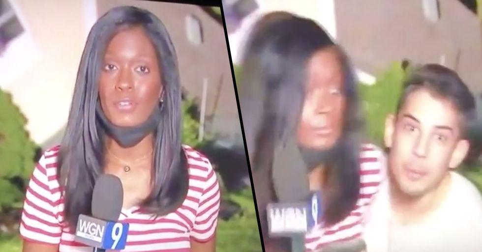 Man Arrested After Grabbing Female Reporter Live on TV