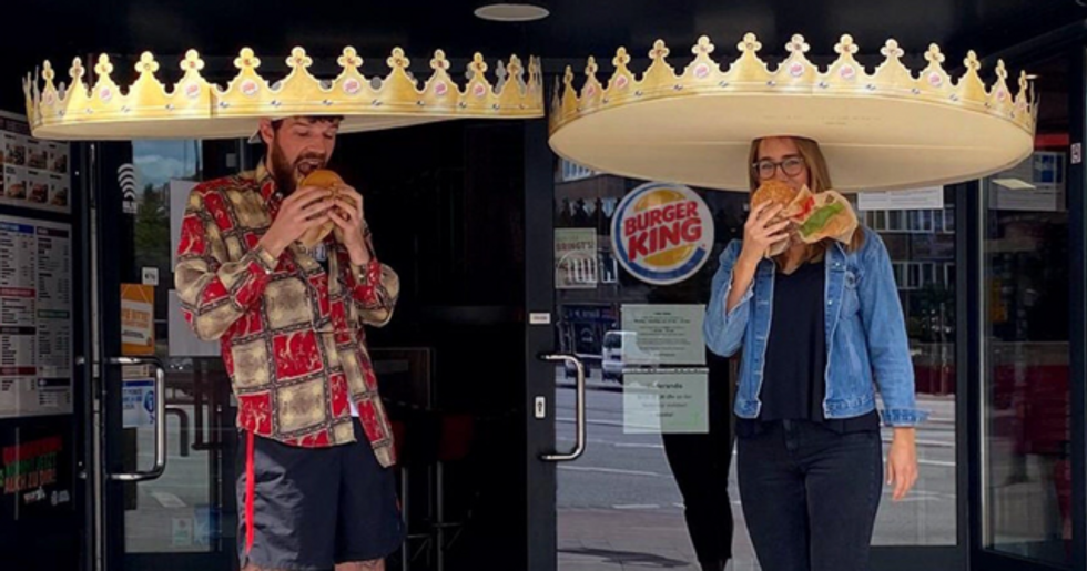 Burger King Debuts 'Social-Distance Crowns' to Keep Customers Apart