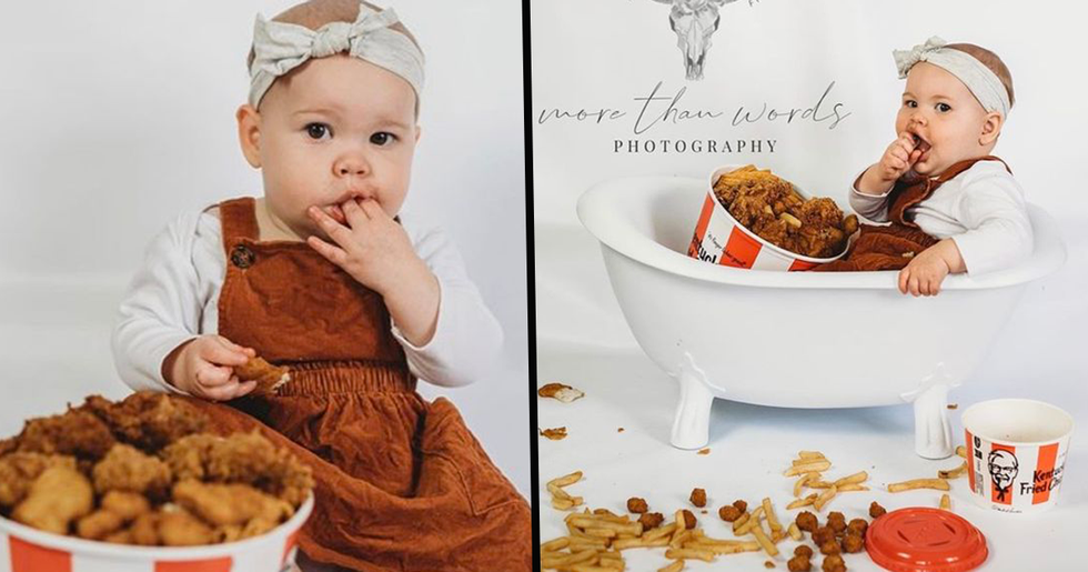 Baby Girl Cruelly Fat-Shamed by Trolls Over Birthday Photo With KFC Bucket