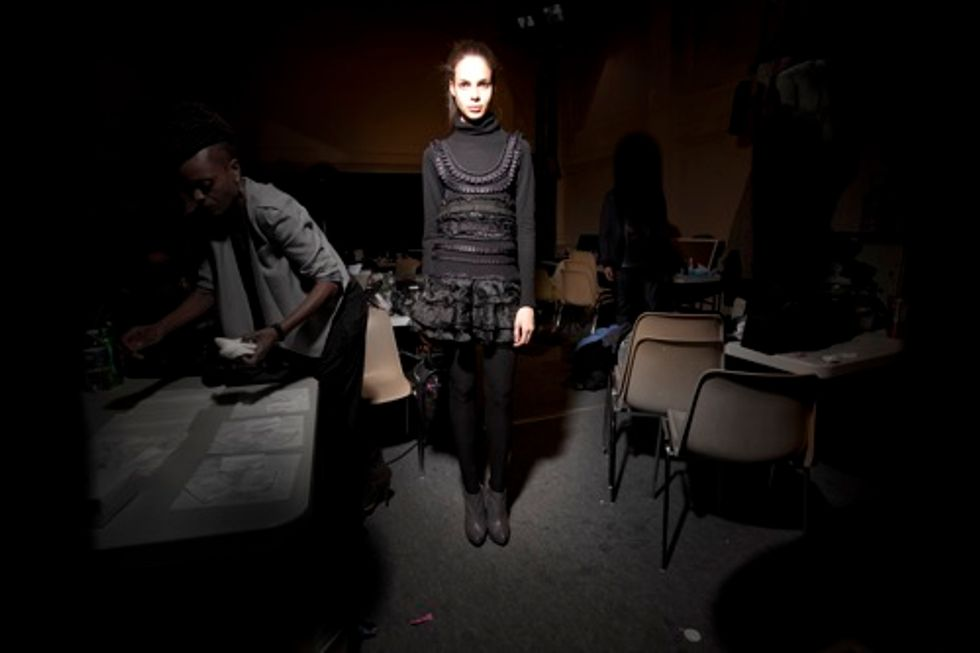 Backstage at Pedro Lourenco's Paris Fashion Week Show