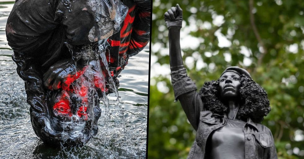 Statue of Slave Trader Replaced With One of Black Lives Matter Protester