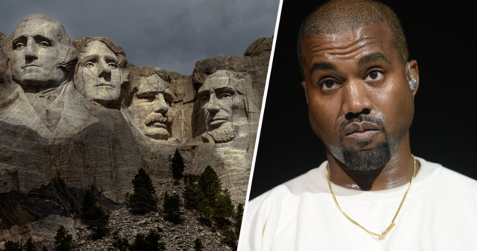 Kanye West Slammed for His 'Disgraceful' Picture of Mount Rushmore
