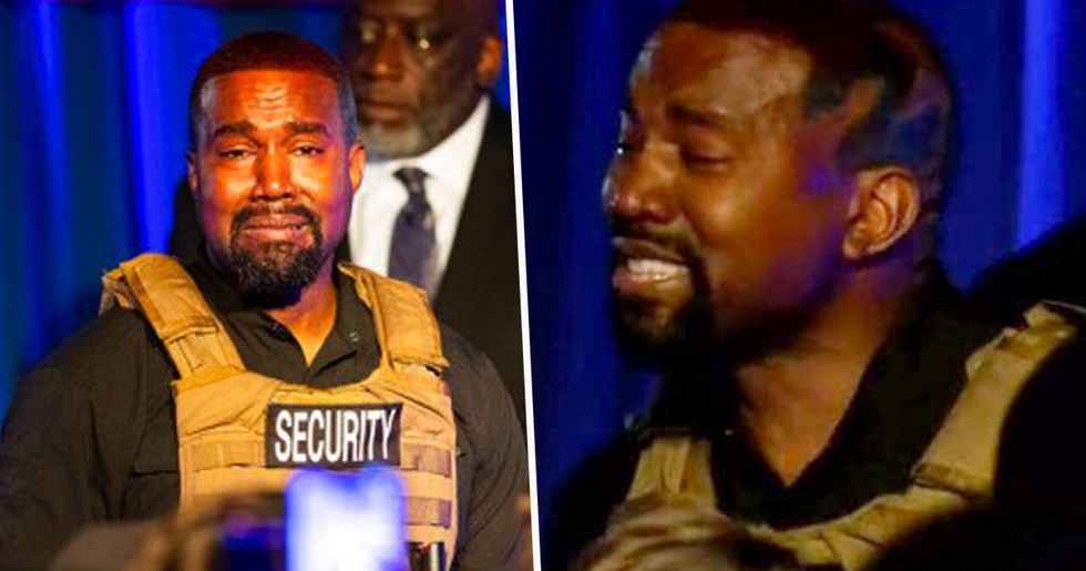 Kanye West Breaks Down During Campaign Rally