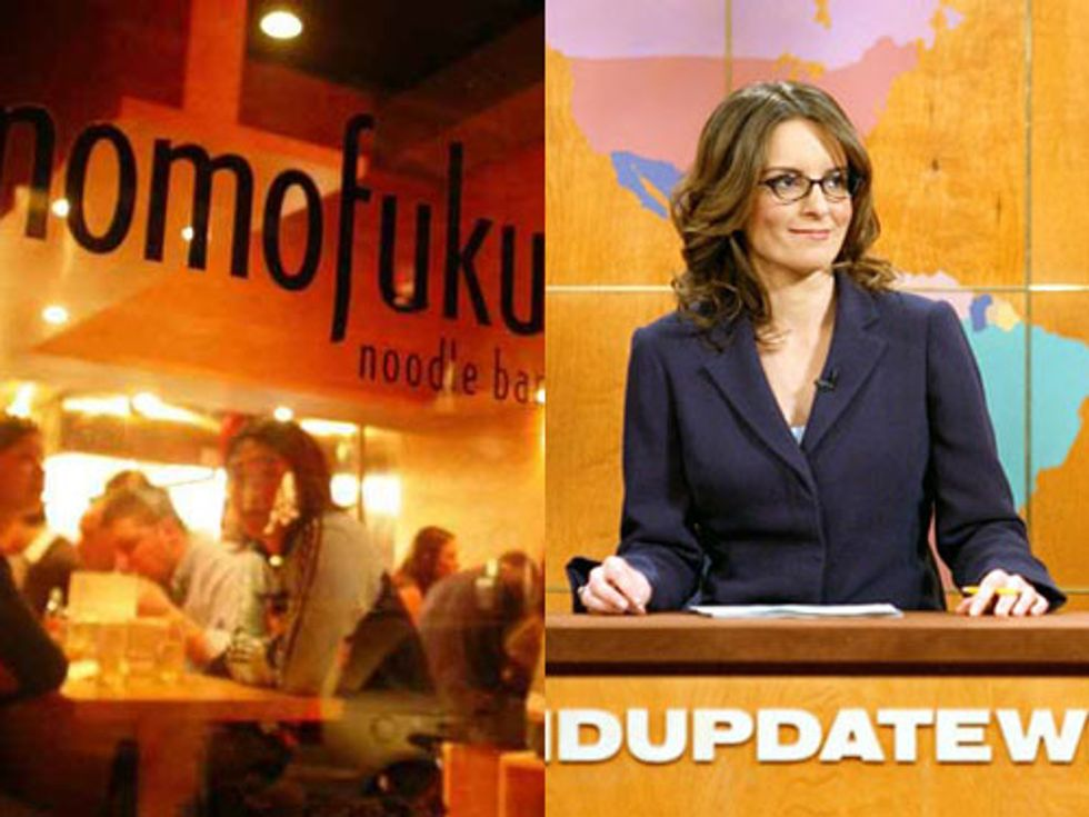 Momofuku Around the World + Tina Fey Explains SNL's Off-Nights in Today's Eight Items or Less