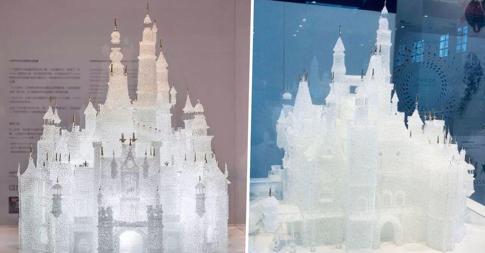 Children Running in Museum Knock Over $60,000 Glass Sculpture of Disney Castle