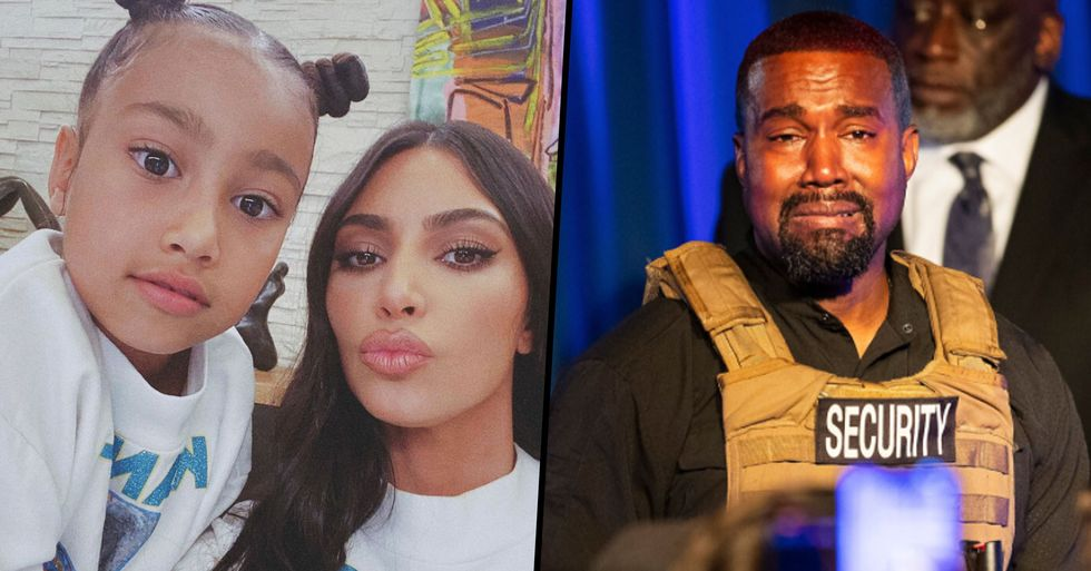 Kim Kardashian 'Furious' at Kanye West for Talking About North at Campaign Rally