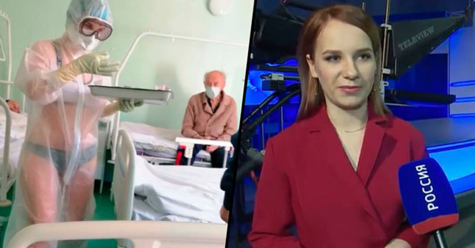 Nurse Who Wore Lingerie Under See-Through PPE Gown Becomes a Weather Presenter