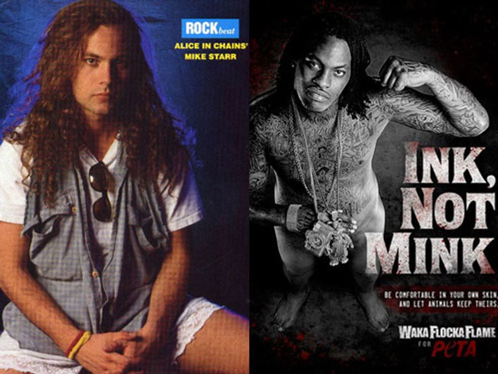 R.I.P. Mike Starr + Waka Flocka Flame Strips For PETA in Today's Eight Items or Less