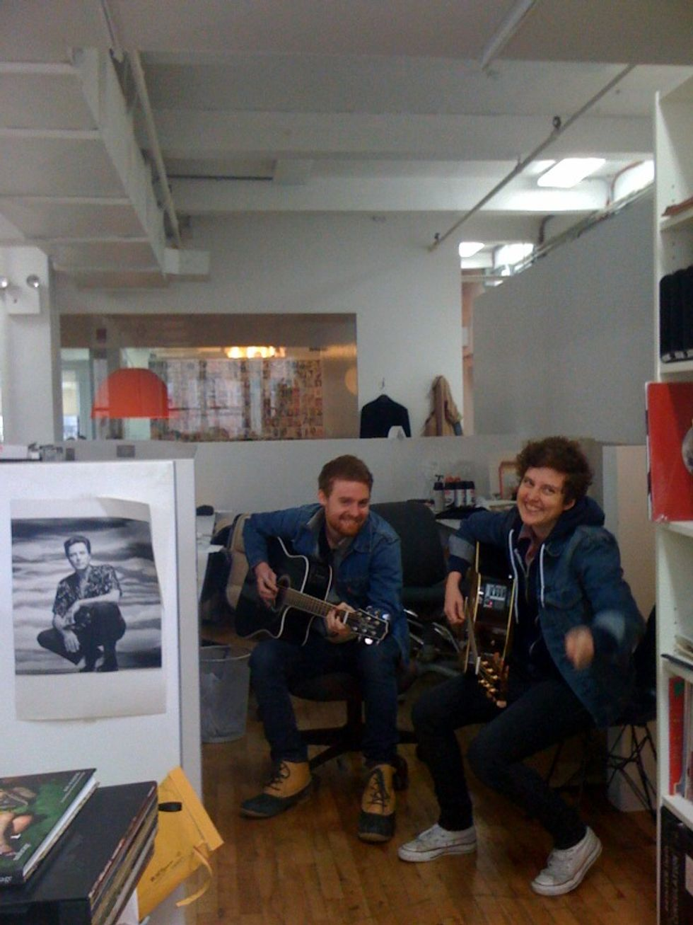 The Belle Brigade Serenades the PAPER Offices