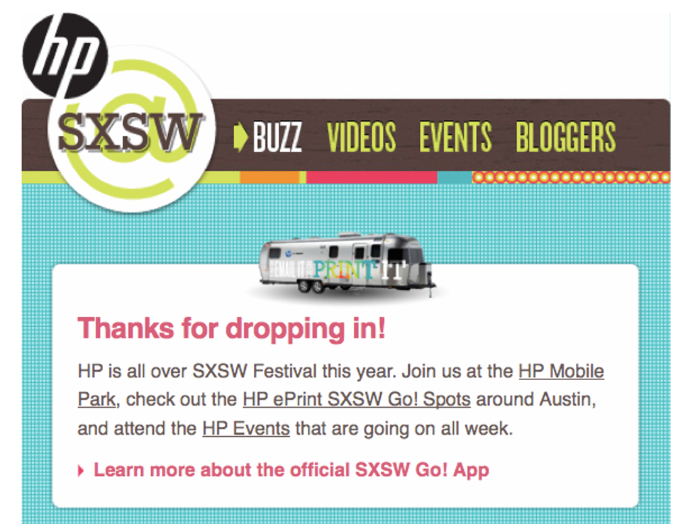 PAPERMAG's Gone SXSW-esting at the HP Mobile Park!