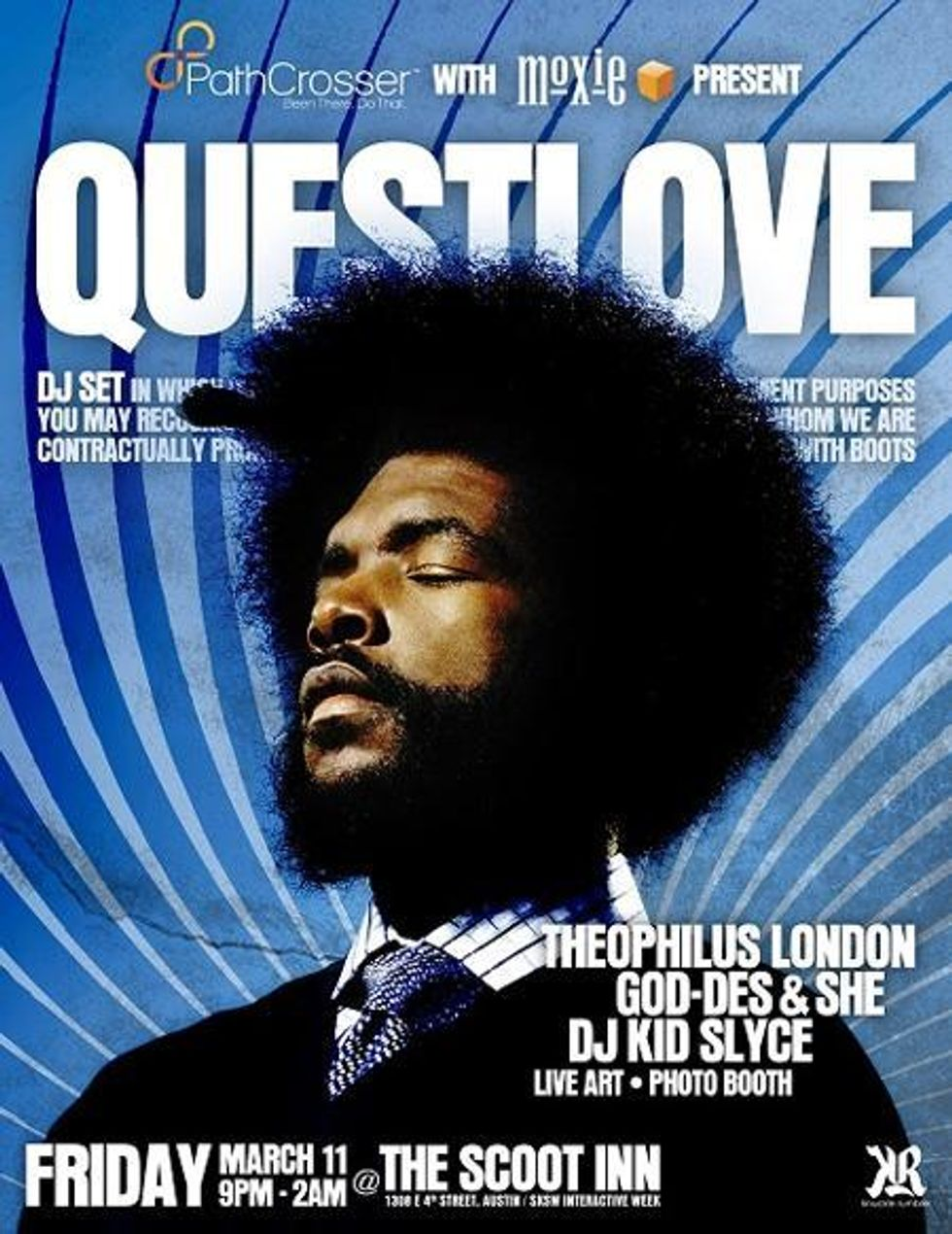 SXSW: Questlove and Theophilus London Scoot in to Austin (Sorry.)