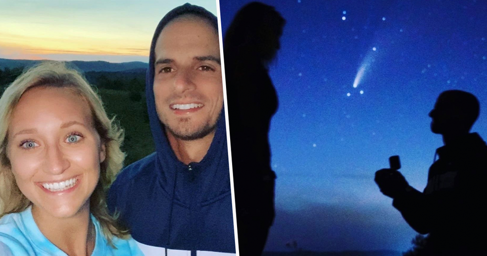 Couple Get Engaged Under Rare Comet That's Only Visible Every 6,800 Years