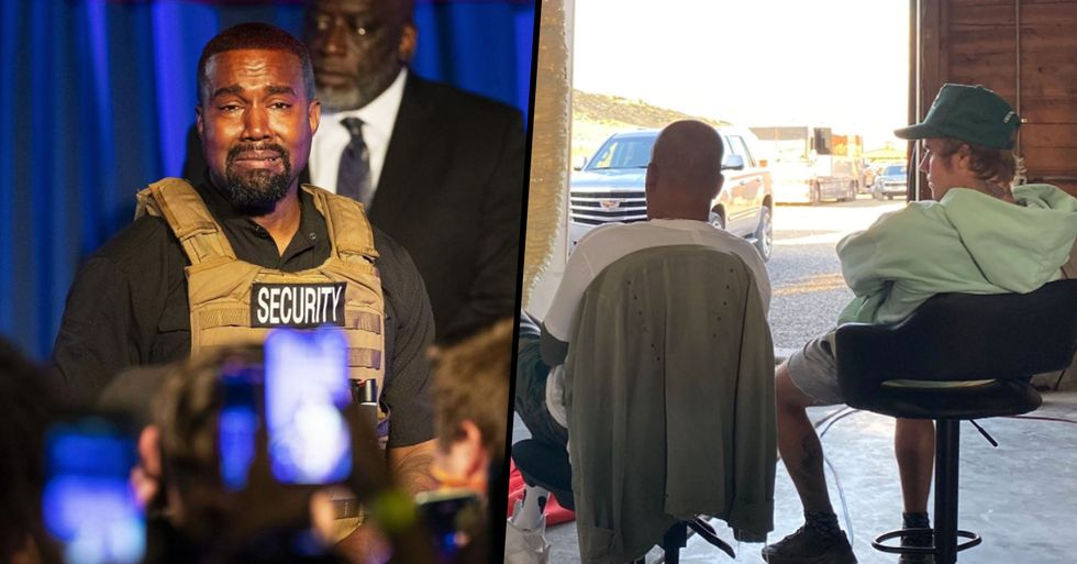 Justin Bieber Visits Kanye West at His Ranch in Wyoming