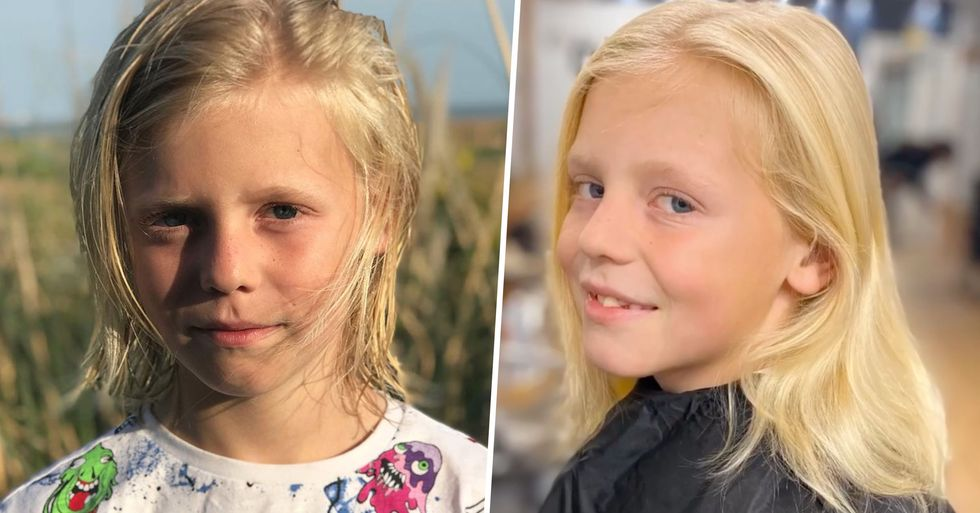 Boy Teased for 'Looking Like a Girl' Reveals His Long Blonde Hair Is for a Cancer Charity